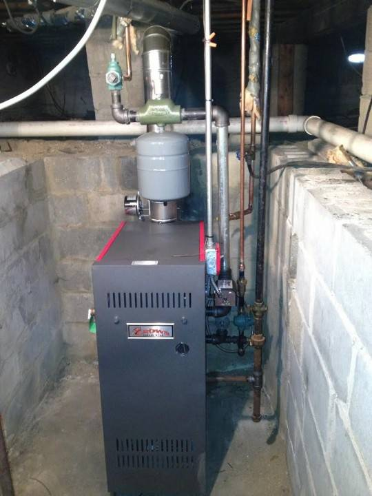 Crown gas boiler installed in Bay Shore, NY