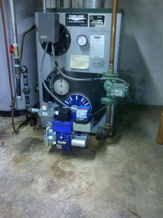 Carlin gas conversion burner installed in Huntington, NY