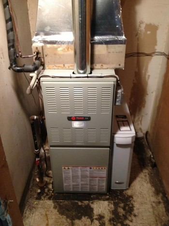 Before and After Furnace Replacement in Commack, NY