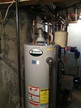 Natural gas water heater installation Northport, NY