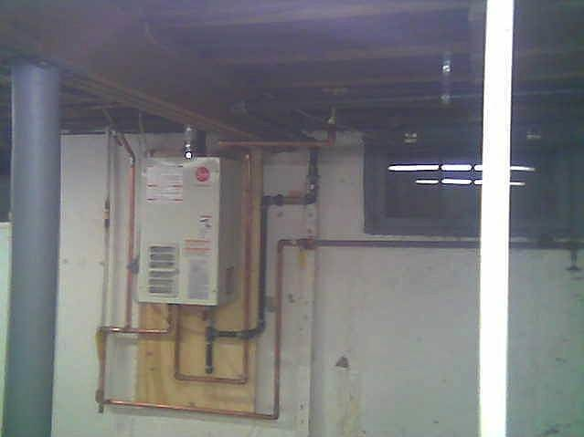 Rheem tankless water heater in Hauppauge, NY