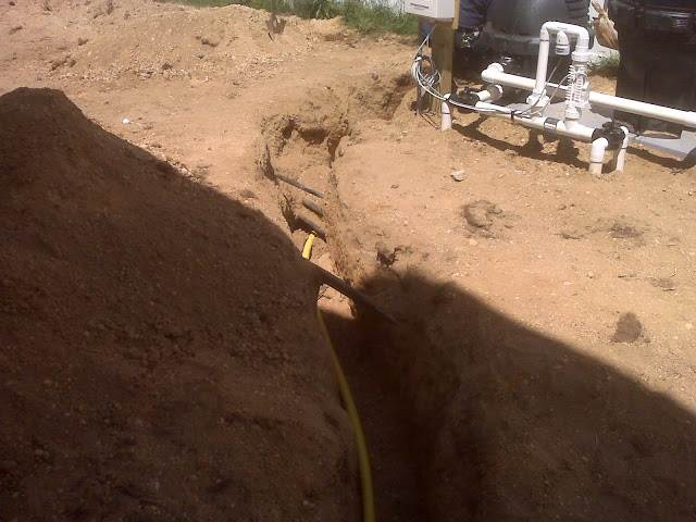 Underground Gas Line connection to Pool in St. James,  NY
