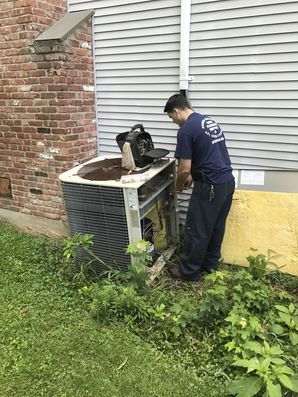 Before and After 5 Ton Trane HVAC Replacement in Saint James, NY (1)